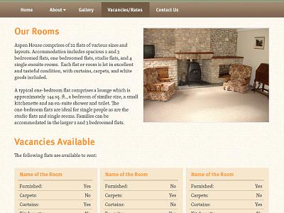 Room Renting Website Visual website housing rent warm