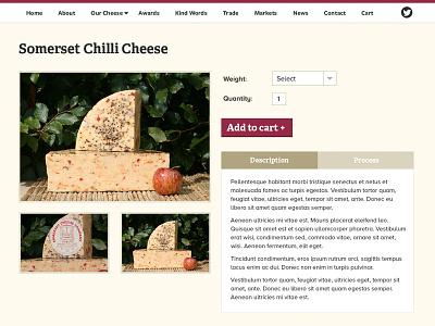 Cheese Website cheese website ecommerce somerset