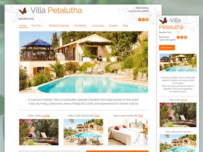 Holiday Villa Website holiday design responsive website cms wordpress website
