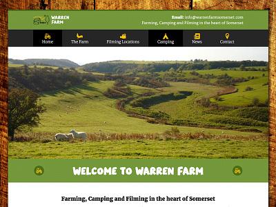 Warren Farm Website camping farm wordpress website
