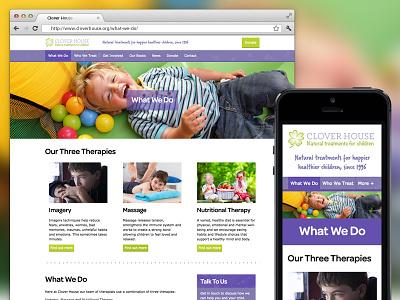 Clover House Charity Website children charity design website