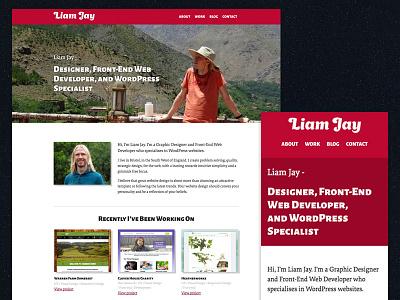 Personal Website Redesign front-end portfolio design website