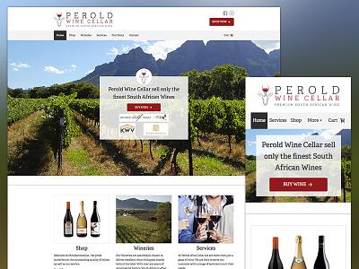 Perold Wine Website Dribbb woocommerce ecommerce wine design website wordpress
