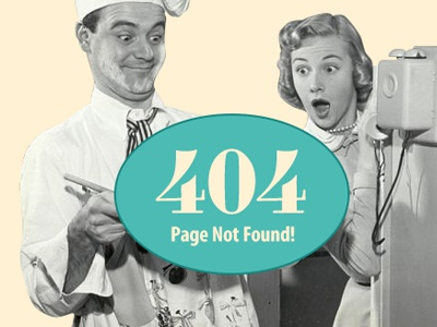 404 Page for 12Cakes.com 404 error 12cakes cooking retro vintage