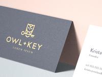 Owl + Key Branding
