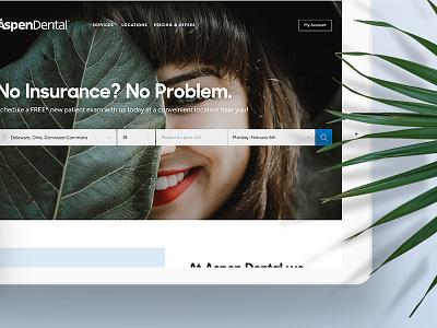 Aspen Dental Concepts dental appointment responsive iphone ipad design web website