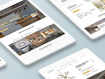 Lighting Ecommerce Concept Work website responsive products store lighting ecommerce ui design web