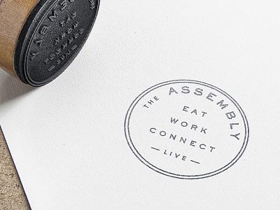 The Assembly Branding columbus design restaurant badge identity logo branding