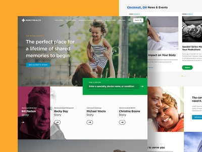 Healthcare Redesign medical healthcare concept homepage ui layout design responsive website