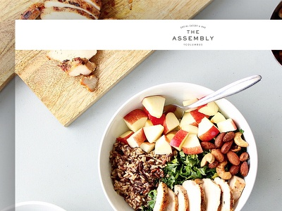 The Assembly Life homepage ui photography food branding design responsive website