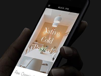 Black Ink portfolio mobile interior design homepage design responsive website