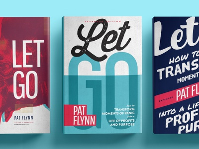 Let Go Expanded Edition typography editorial design cover book