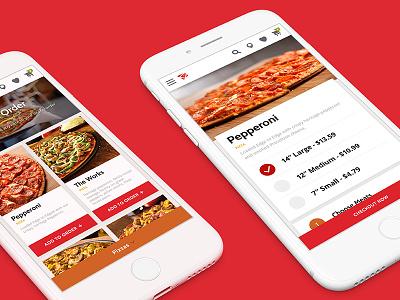 Donatos Responsive Redesign customize menu pizza ordering mobile responsive website