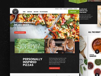 Pieology Redesign ux ui customize menu pizza ordering mobile responsive website