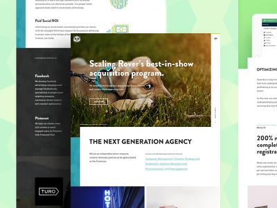 Bamboo Website agency bamboo responsive mobile ui ux homepage web website design