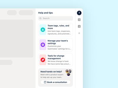 Help and tips integration 🕵🏻♀️ integration tips tasks onboarding admin help center help shared inbox messaging frontapp email front