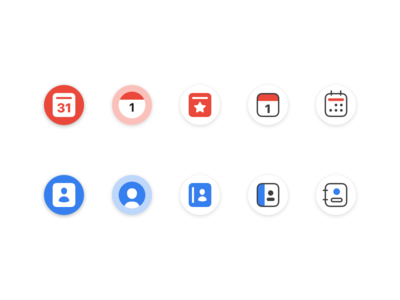Calendar and Contacts Icons 📅📇