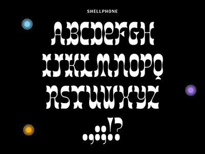 Week 15: Shellphone mermaid reverse contrast freebies free font type design type typography lettering