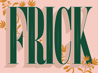 Frickin' Frick homwork type wip practice g letters drawing procreate typography hand lettering lettering