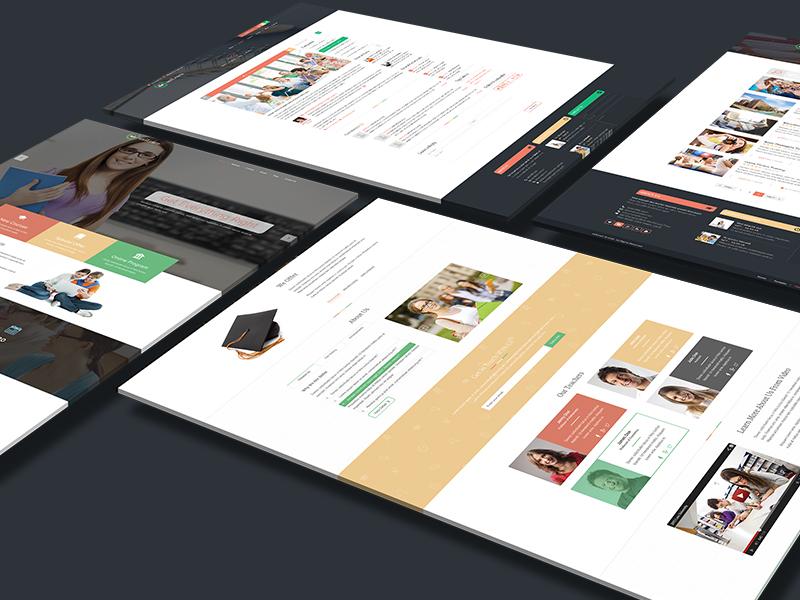 Unilearn – educational PSD template ( + Free PSD )