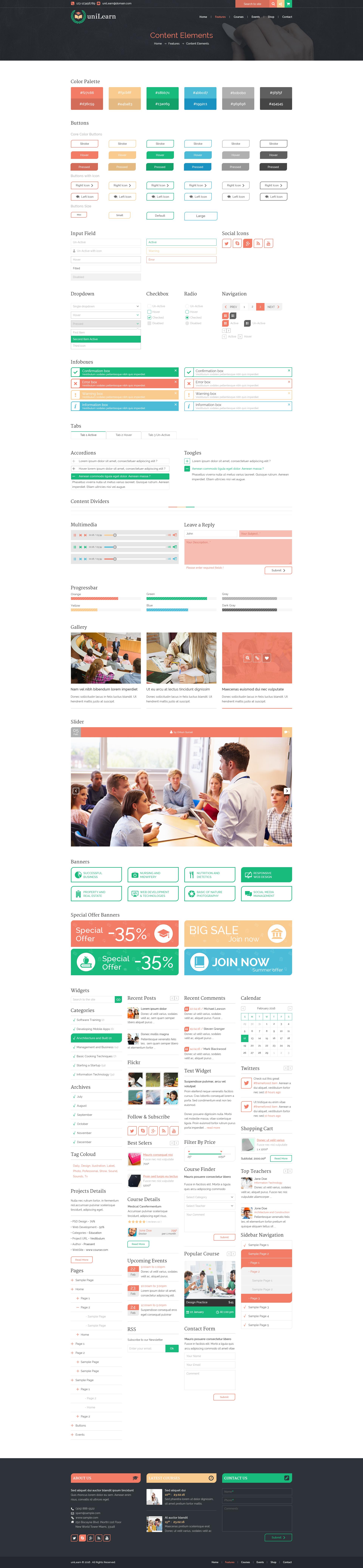 17 features pages content elements