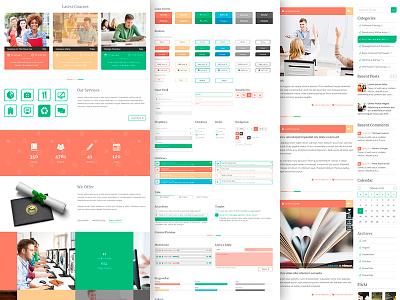 Unilearn - educational PSD template ( + Free PSD ) web site website webdesign web free psd freebie educational template web design