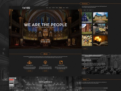 Church - Landing Page Redesign church onepage landing redesign web design template web webdesign website web site