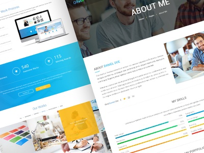 Olivia - Creative Multipurpose Template web site website webdesign web template web design homepage creative ui ux user interface user experience