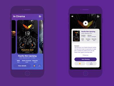Cinema app ux design user interface user experience ui design interaction design mobile design ux ui