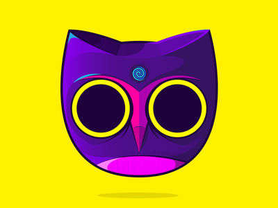 Owl owl illustration vector color