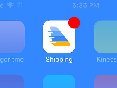 Shipping Icon App icon design app icon color sketch logo ios icon button app