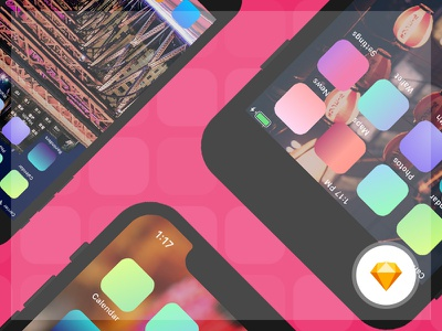 Free Mockups iPhone 8, 8 Plus and X mockups vector download mockup mobile free mockup ui ux ios sketch iphone mockup