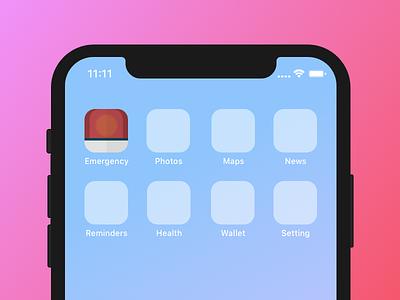 Emergency Icon App ui design icon design app icon ui color sketch logo ios icon button app