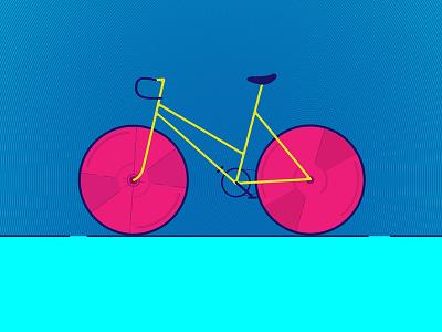 Minimal Bike minimal illustration bike colors vector