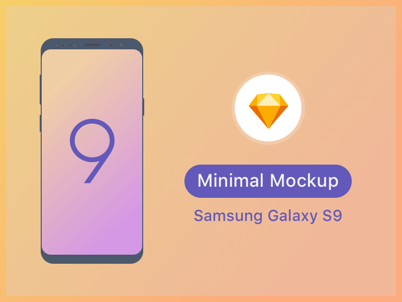 Samsung S9 Minimal Mockup download templates samsung galaxy s9 free mock-up vector ui ux android sketch mobile mockup
