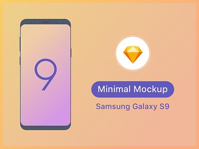Samsung S9 Minimal Mockup download templates samsung galaxy s9 free mock-up vector ui ux android sketch mobile mockup