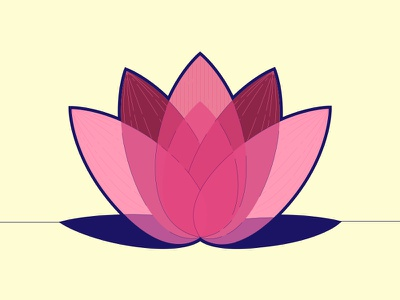Lotus illustrator vector colors logo