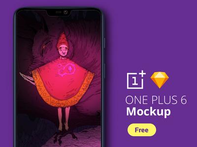 Free One Plus 6 Mockup + Bonus Background