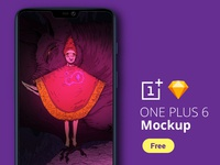 Free One Plus 6 Mockup + Bonus Background