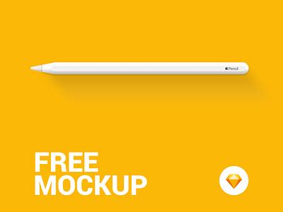 Apple Pencil - Free Mockup vector sketch app download mockup free applepencil