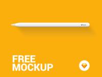 Apple Pencil - Free Mockup