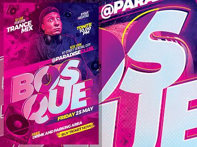 Guest Artist Flyer Template template performance party nightclub music hip-hop flyer event electro dj concert artist