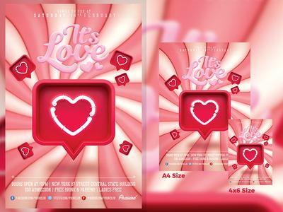 It's Love Flyer Template