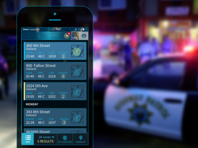 ShotSpotter- Real-time gunshot detection for police officers  mobile apps enterprise ux design ux