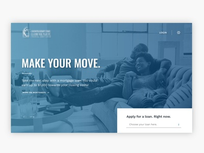 Credit Union Homepage w/ Brand Refresh Concept