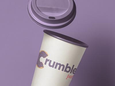 Crumbles Pastries Cup Design logo design graphic design bakery logo cup design mockup design package design packaging logo design