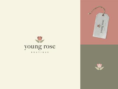 Young Rose Logo brand design vectors mockup packaging branding design packaging mockup logo design vector package design identity design logo branding graphic design