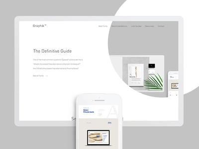 Webdesign minimalistic PSD Freebie