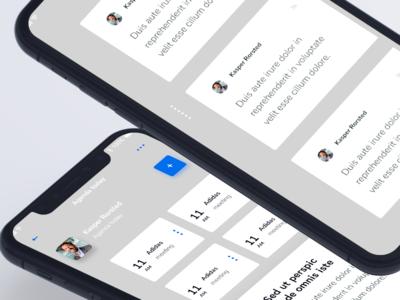 Agenda app design IOS iphone 10 iphone task tasks agenda application app ios