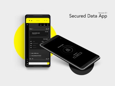 Secured Data App Concept fileapp secured data application files safety secured